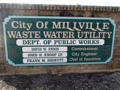Millville Waste Water Utility sign